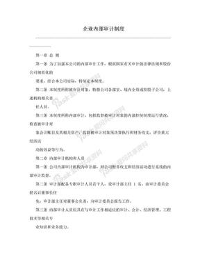 企业内部审计制度.doc