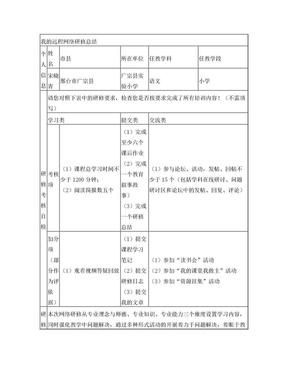 教师继续教育培训研修总结.doc