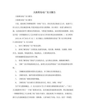 大唐黄岛电厂实习报告.doc