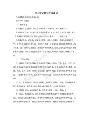 初二数学德育渗透计划.doc