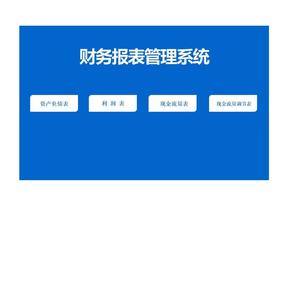 财务报表管理系统(资产负债表、利润表、现金流量表等一套).xls