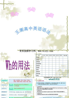 王衡高中英语语法第14讲wh-用法讲解.ppt