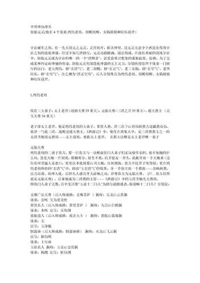 中国神仙排名.doc