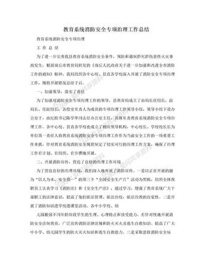 教育系统消防安全专项治理工作总结.doc
