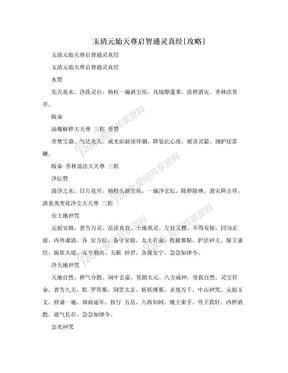 玉清元始天尊启智通灵真经[攻略].doc