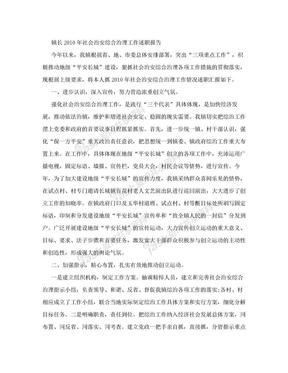 镇长2010年社会治安综合治理工作述职报告.doc