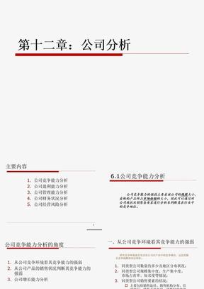 12 初级证券投资学 第12章 公司分析.ppt