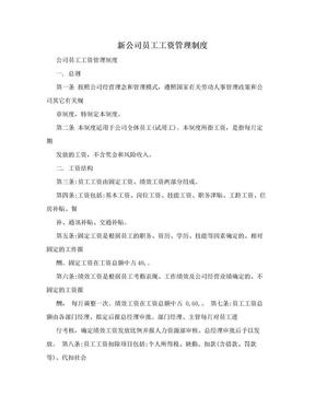 新公司员工工资管理制度.doc