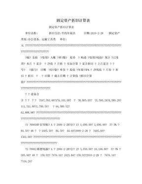 固定资产折旧计算表.doc