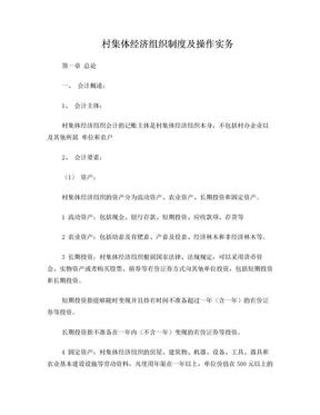村集体经济组织会计制度操作实务.doc
