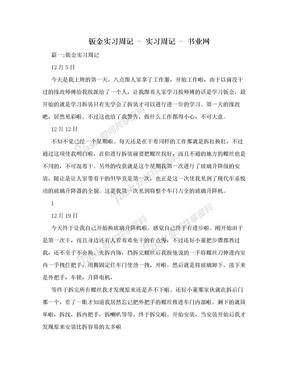 钣金实习周记 - 实习周记 - 书业网.doc