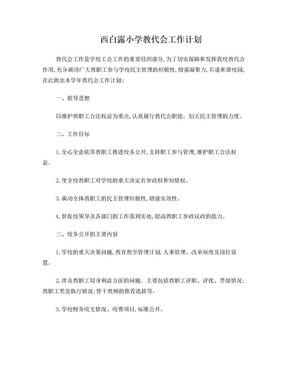 西白露小学教代会工作计划.doc