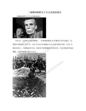 二战期间纳粹分子令人发指的暴行.doc