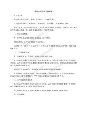 软件公司劳动合同范本.docx
