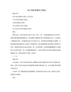 电子商务客服实习周记.doc