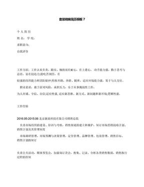 套装精编简历模板7.docx