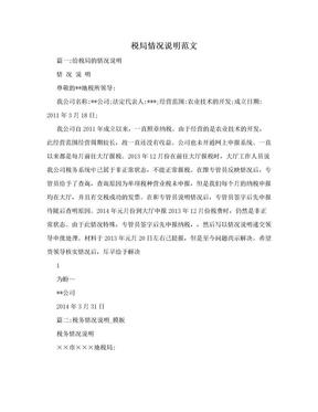 税局情况说明范文.doc