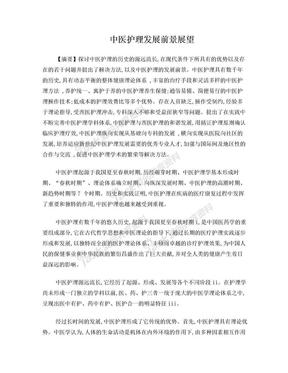 中医护理发展前景展望综述.doc