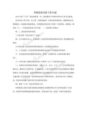 学校法治宣传工作计划.doc