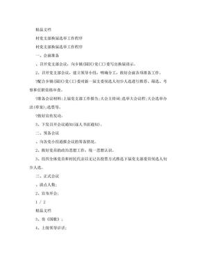 村党支部换届选举工作程序.doc