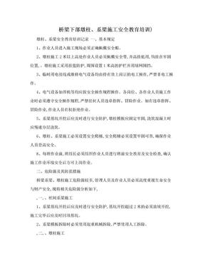 桥梁下部墩柱、系梁施工安全教育培训).doc