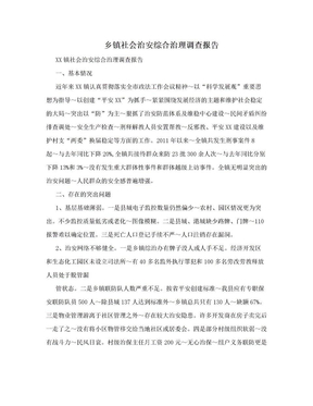 乡镇社会治安综合治理调查报告.doc