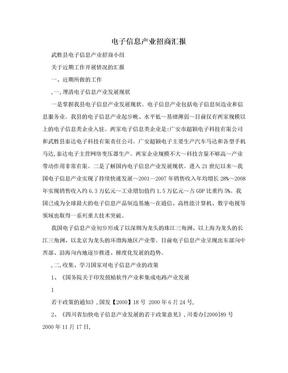 电子信息产业招商汇报.doc