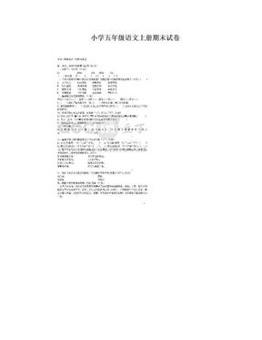 小学五年级语文上册期末试卷.doc