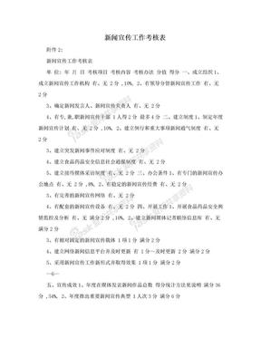 新闻宣传工作考核表.doc
