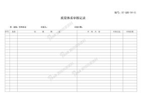 98质量管理体系审核记录.doc