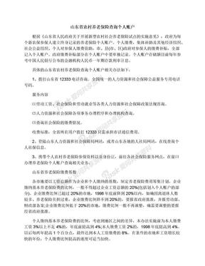 山东省农村养老保险查询个人账户.docx
