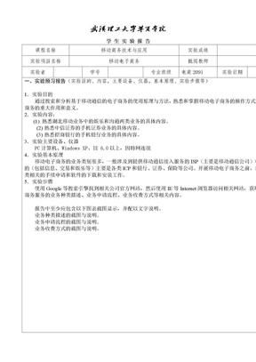 移动电子商务实验报告 .doc