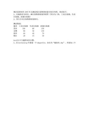 arcgis专题图制作(饼图).doc