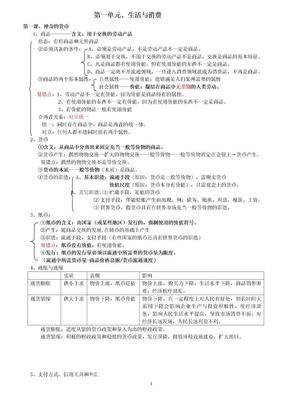 高中政治-必修一_经济生活_知识结构图.doc