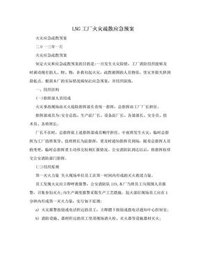 LNG工厂火灾疏散应急预案.doc