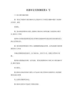 XX集团——内部审计具体规范第6号 审计报告.doc