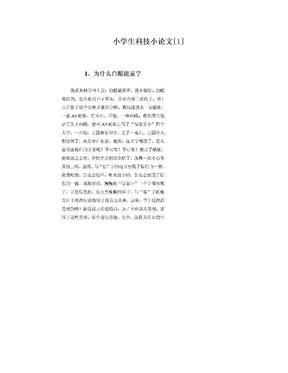 小学生科技小论文[1].doc