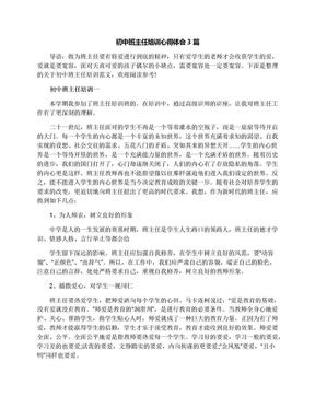初中班主任培训心得体会3篇.docx
