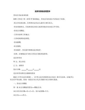 北京市劳动合同范本.docx