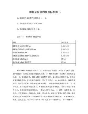 螺杆泵检修的技术标准.doc