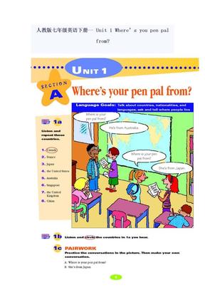 七年级英语下册教材.doc