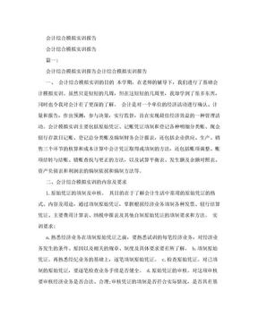 会计综合模拟实训报告.doc