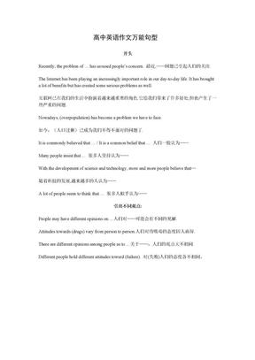 高中英语作文万能句型.doc