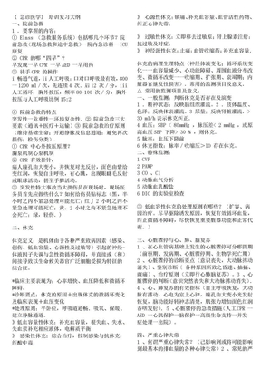 《 急诊医学》 培训复习大纲.doc