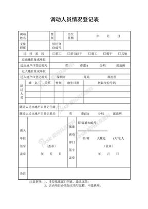 调动人员情况登记表.doc