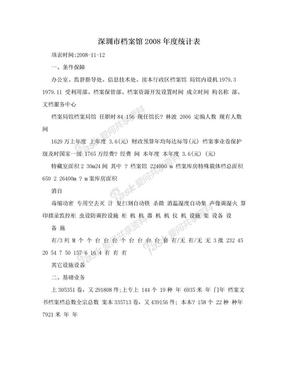 深圳市档案馆2008年度统计表.doc