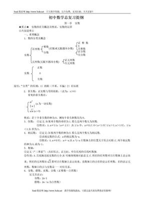 中考数学复习提纲.doc