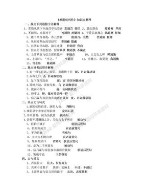 淮阴侯列传文言知识点整理.doc