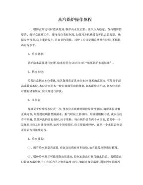 蒸汽锅炉操作规程.doc