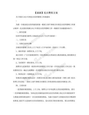 【最新】民兵整组方案.doc